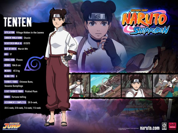 Tags: Anime, Studio Pierrot, NARUTO, Tenten, Official Character Information, Official Art