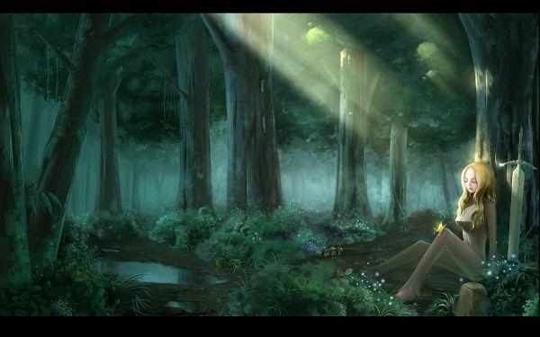 Tags: Anime, Pixiv Id 2443687, Claymore, Teresa, Under A Tree, Wallpaper, Fanart, Pixiv, HD Wallpaper
