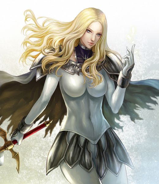 Tags: Anime, Appleseed (Pixiv446045), Claymore, Teresa, Pixiv, Fanart, Fanart From Pixiv