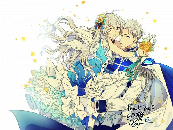 Tags: Anime, The Abandoned Empress, Aristia, Keirean, Text: Thank You, Fanart