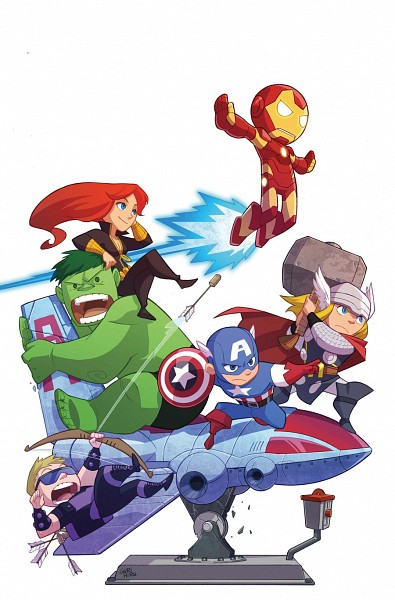 Tags: Anime, Gurihiru, Iron Man, The Avengers, Hawkeye (Character), Black Widow, Captain America, Thor Odinson, Hulk, Iron Man (Character), Hammer (Weapon), Cracks, Mobile Wallpaper