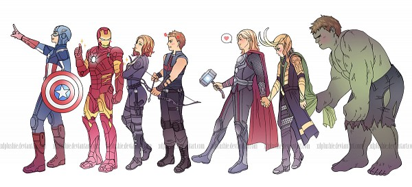 Tags: Anime, miho-nyc, Iron Man, The Avengers, Captain America, Black Widow, Thor Odinson, Hulk, Loki Laufeyson, Iron Man (Character), Hawkeye (Character), Facebook Cover, Marvel