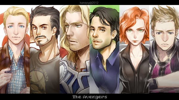 Tags: Anime, KANapy, Iron Man, The Avengers, Hulk, Steven Rogers, Black Widow, Hawkeye (Character), Anthony Edward Stark, Thor Odinson, Bruce Banner, Facebook Cover, Marvel