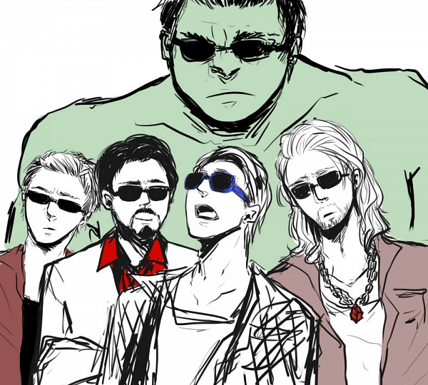 Tags: Anime, Pixiv Id 1609523, Iron Man, The Avengers, Hulk, Anthony Edward Stark, Hawkeye (Character), Thor Odinson, Steven Rogers, Silly Faces, Fanart, Marvel, Fanart From Pixiv