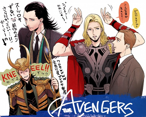 Tags: Anime, Akuta Michi, The Avengers, Phil Coulson, Thor Odinson, Loki Laufeyson, Marvel, Pixiv, Fanart From Pixiv, Fanart, Translation Request
