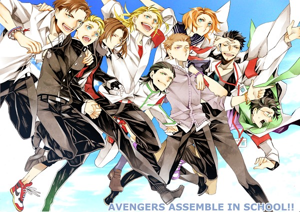 Tags: Anime, Pixiv Id 1225342, The Avengers, Thor (Film), Hawkeye (Character), James Buchanan Barnes, Captain America, Anthony Edward Stark, Thor Odinson, Bruce Banner, Loki Laufeyson, Black Widow, Steven Rogers