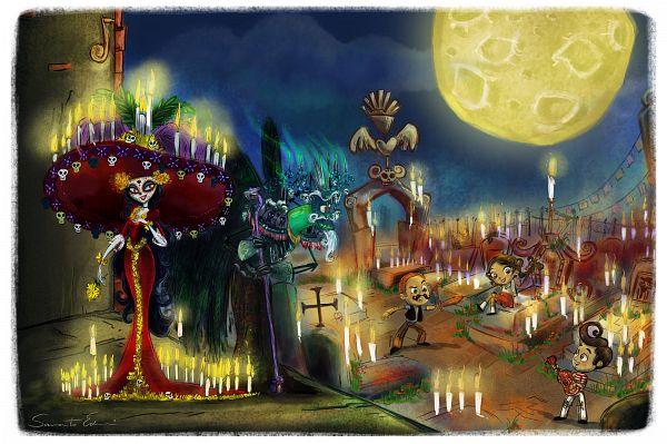 Tags: Anime, Samycat, The Book of Life, Joaquin Emilio Mondragon Jr., Manolo Luis Sanchez, Xibalba, La Muerte, Maria Gabriela Posada, Día de los Muertos, Fanart From DeviantART, deviantART, Fanart