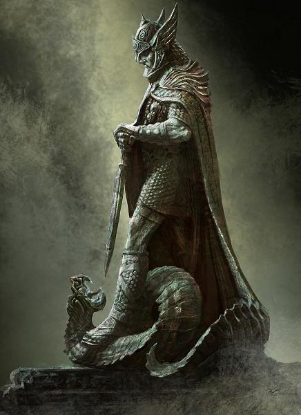 Tags: Anime, The Elder Scrolls, Statue, Sketch, Skyrim