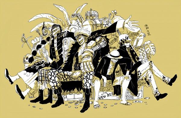 Tags: Anime, ONE PIECE, Eustass Kid, Trafalgar Law, Scratchmen Apoo, Basil Hawkins, Monkey D. Luffy, Treasure, Fanart From Pixiv, One Piece: Two Years Later, Fanart, Pixiv, The Eleven Supernovas