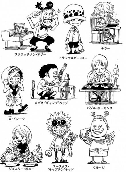 Tags: Anime, Oda Eiichirou, ONE PIECE, Eustass Kid, Killer (ONE PIECE), Scratchmen Apoo, Trafalgar Law, Capone Bege, Basil Hawkins, X Drake, Jewelry Bonney, Urouge, Official Art