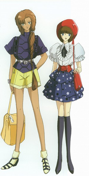 Tags: Anime, Nagano Mamoru, The Five Star Stories, Ladios Sopp, Fatima Lachesis, Official Art, Scan