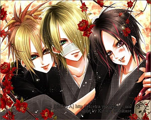 Tags: Anime, Etcetra (Mangaka), Ruki (The GazettE), Aoi (The GazettE), Reita (The GazettE), J-Rock, The GazettE