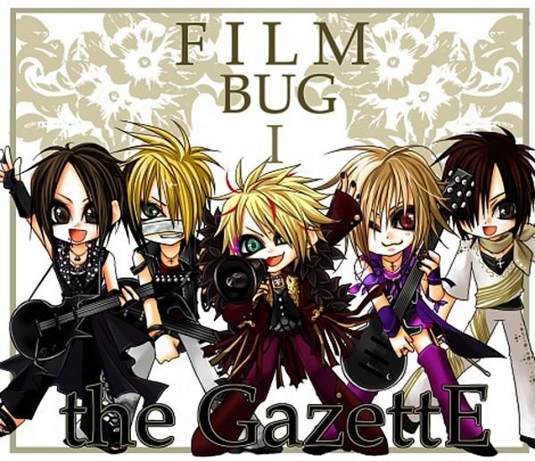 Tags: Anime, Aoi (The GazettE), Reita (The GazettE), Uruha (The GazettE), Ruki (The GazettE), Kai (The GazettE), Bass Guitar, Text: Character Group Name, Artist Request, The GazettE