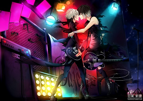 Tags: Anime, Crossingxboundaries, Uruha (The GazettE), Aoi (The GazettE), Text: Character Group Name, Fanart, deviantART, The GazettE