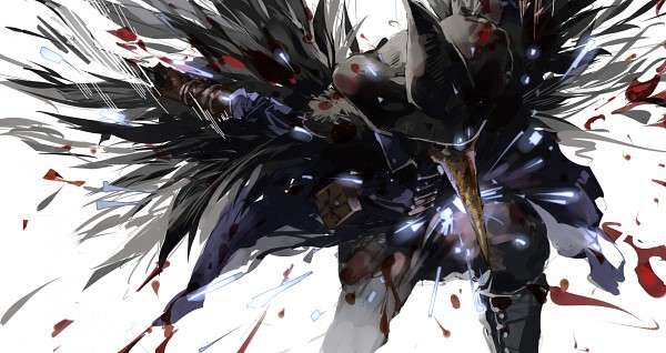 Tags: Anime, Pixiv Id 4489330, Bloodborne, Eileen the Crow, The Hunter (Bloodborne), Fanart From Pixiv, Pixiv, Fanart