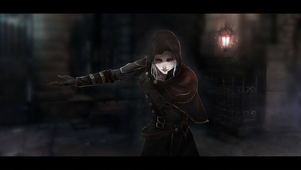 Tags: Anime, Pixiv Id 5895474, Bloodborne, The Hunter (Bloodborne), Bowing, Wallpaper, Tumblr, Artist Request
