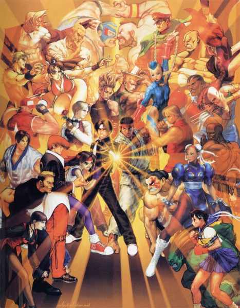 Tags: Anime, Rival Schools, Fatal Fury, The King of Fighters, Art of Fighting, Street Fighter, Shiranui Mai, Rugal Bernstein, Vice (King of Fighter), Chun-Li, Dhalsim, Ryuu (Street Fighter), Terry Bogard