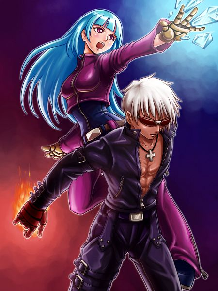 Tags: Anime, Alvares, The King of Fighters, K', Kula Diamond, Pixiv, Fanart, Fanart From Pixiv