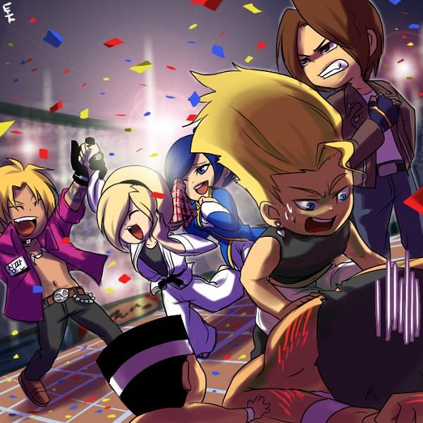 Tags: Anime, Captain Tot, SNK Playmore, The King of Fighters, Ash Crimson, Benimaru Nikaido, Kusanagi Kyou, Shen Woo, Elisabeth Blanctorche, Celebrate