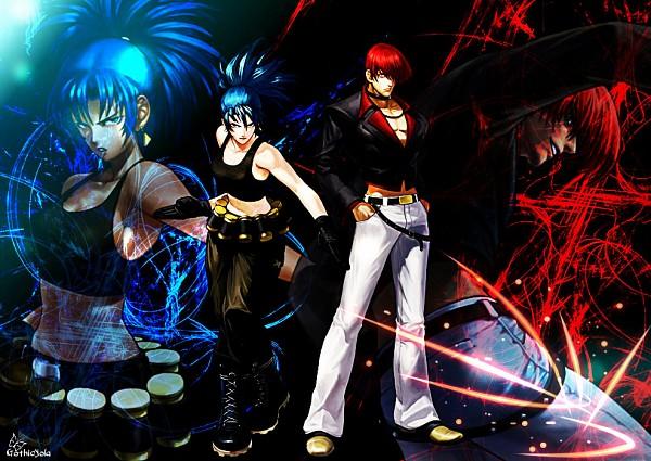 Tags: Anime, SNK Playmore, Metal Slug, The King of Fighters, Leona Heidern, Yagami Iori, Artist Request