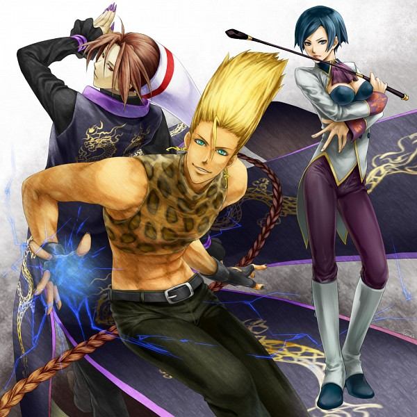 Tags: Anime, Pixiv Id 3263895, The King of Fighters, Elisabeth Blanctorche, Benimaru Nikaido, Duo Lon, Fanart, Fanart From Pixiv, Pixiv