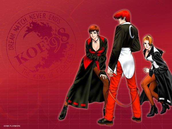 Tags: Anime, SNK Playmore, The King of Fighters, Yagami Iori, Vice (King of Fighter), Mature (King of Fighters), Wallpaper