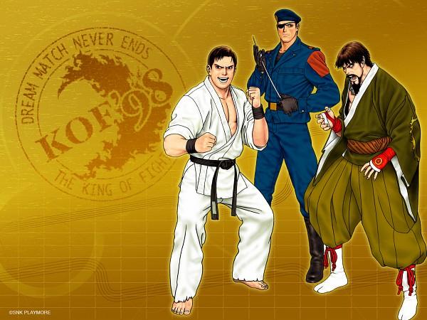 Tags: Anime, SNK Playmore, Art of Fighting, The King of Fighters, Heidern, Takuma Sakazaki, Saisyu Kusanagi, Gi, Wallpaper