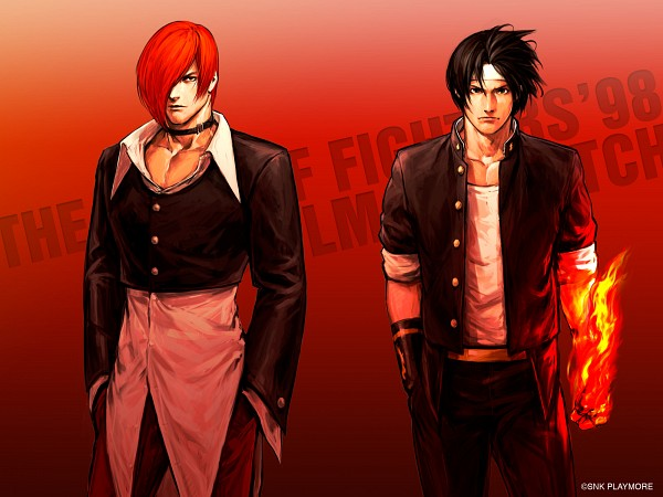Tags: Anime, Hiroaki (Artist), SNK, The King of Fighters, Yagami Iori, Kusanagi Kyou