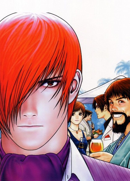 Tags: Anime, Shinkiro, SNK, Art of Fighting, The King of Fighters, Vice (King of Fighter), Yagami Iori, Takuma Sakazaki, Kusanagi Kyou, Saisyu Kusanagi, Gi, Official Art