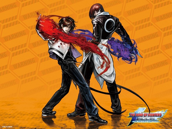 Tags: Anime, Hiroaki (Artist), SNK Playmore, The King of Fighters, Kusanagi Kyou, Yagami Iori, Official Art, Wallpaper, Official Wallpaper