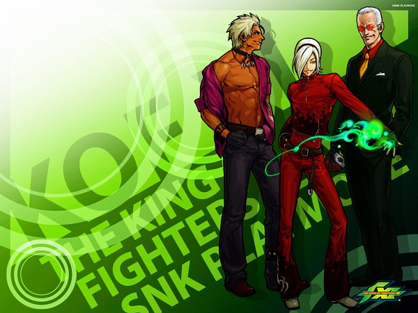 Tags: Anime, Hiroaki (Artist), SNK Playmore, The King of Fighters, Ash Crimson, Oswald (King of Fighters), Shen Woo, Wallpaper