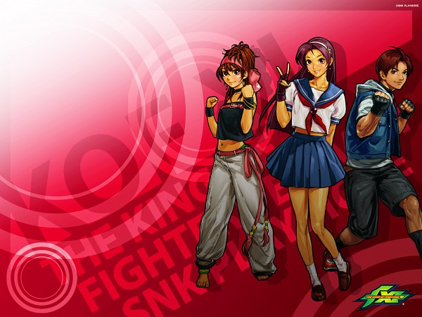 Tags: Anime, Hiroaki (Artist), SNK Playmore, The King of Fighters, Sie Kensou, Momoko (King of Fighters), Athena (King of Fighters), Psycho Soldier, Wallpaper