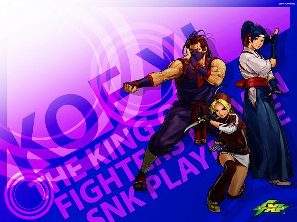 Tags: Anime, Hiroaki (Artist), SNK Playmore, Art of Fighting, The King of Fighters, Eiji Kisaragi, Kasumi Todoh, Malin, Half Mask, Wallpaper