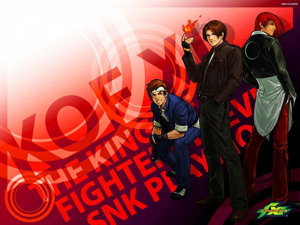 Tags: Anime, Hiroaki (Artist), SNK, The King of Fighters, Yagami Iori, Yabuki Shingo, Shingo Yabuki, Kusanagi Kyou, Wallpaper