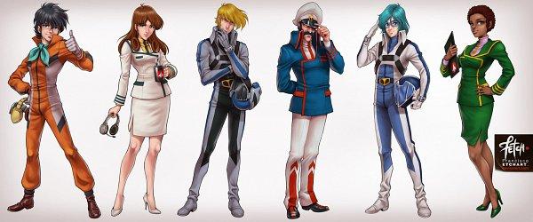 Tags: Anime, The Super Dimension Fortress Macross, Macross 7, Henry Gloval, Hikaru Ichijou, Claudia Lasalle, Misa Hayase, Maximillian Jenius, Roy Focker, Franciscoetchart, Navy Admiral, deviantART