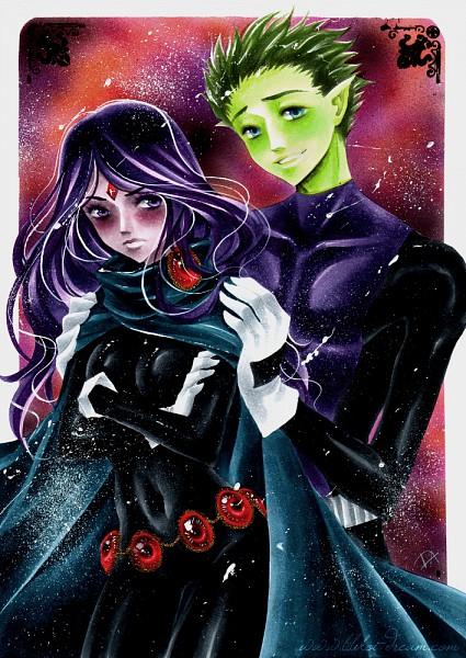 Tags: Anime, Luleiya, The Teen Titans, Beast Boy, Raven (DC Comics), DC Comics, Mobile Wallpaper, deviantART