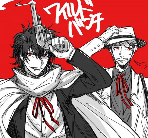 Tags: Anime, Pixiv Id 887288, Drifters (Manga), Sundance Kid, Butch Cassidy, The Wild Bunch, Stubble, Fanart From Pixiv, Pixiv, Fanart