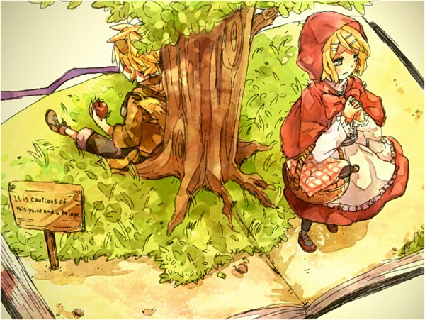 Fell in love with the little red riding hood big bad wolf pictures the wolf that fell in love with red riding hood vocaloid 600x451 sciox Choice Image