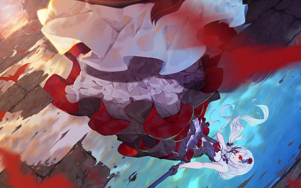 Tags: Anime, Pixiv Id 5662397, Houkai 3rd, Theresa Apocalypse, Water Reflection, Puddle, Houkai 3rd Illustration Contest, Pixiv, Fanart, Fanart From Pixiv