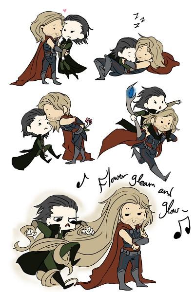 Tags: Anime, Xeora, The Avengers, Thor (Film), Thor Odinson, Loki Laufeyson, Zzz, Tangled (Parody), Marvel, Mobile Wallpaper