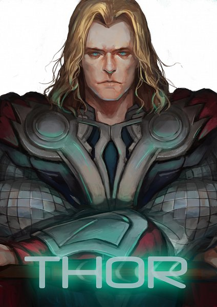 Tags: Anime, *Missingcat318, Thor Odinson, Gray Outfit, Marvel, Pixiv, Fanart From Pixiv, Fanart