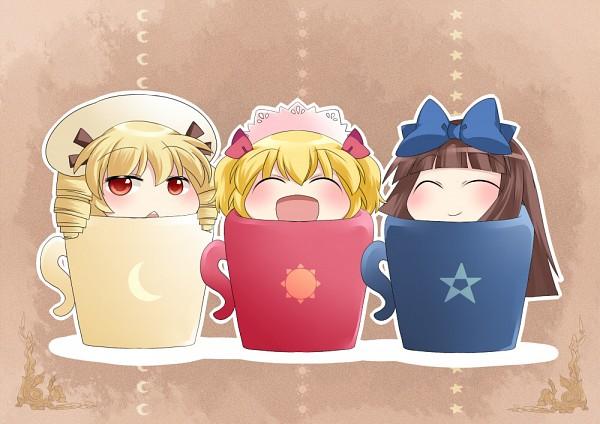 Tags: Anime, Hammer (Sunset Beach), Touhou, Luna Child, Star Sapphire, Sunny Milk, Sun (Symbol), Fanart From Pixiv, Pixiv, Fanart, Three Mischievous Fairies