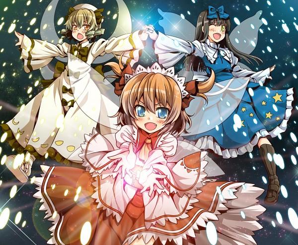Tags: Anime, Uousa, Touhou, Star Sapphire, Sunny Milk, Luna Child, Pixiv, Fanart, Fanart From Pixiv, Three Mischievous Fairies