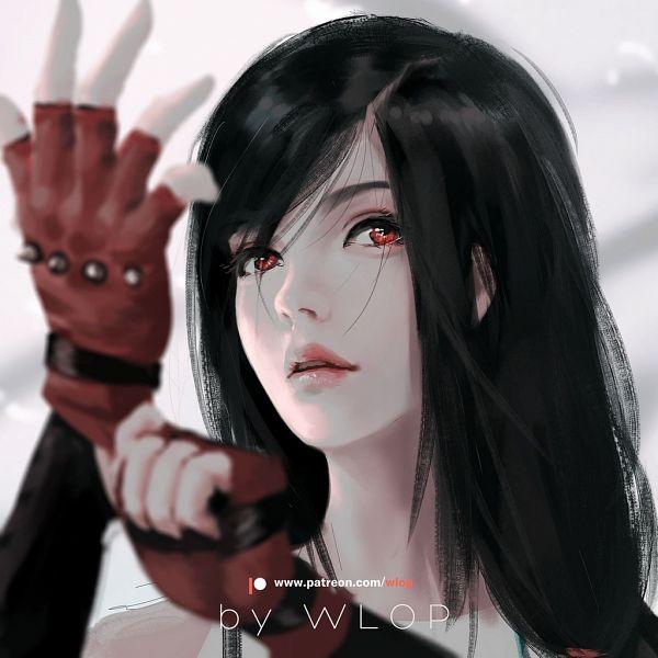 Tags: Anime, wlop, Final Fantasy VII Remake, Final Fantasy VII, Tifa Lockhart, Adjusting Gloves, Fanart, Fanart From DeviantART, deviantART