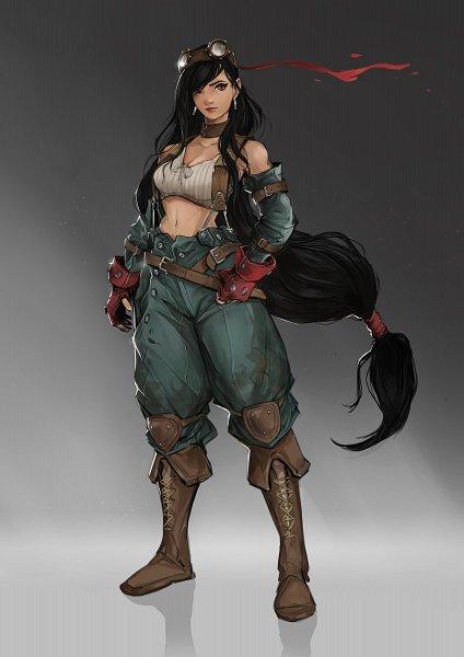Tags: Anime, Sarty96, Final Fantasy VII, Tifa Lockhart, Steampunk, Baggy Pants, Knee Pads, deviantART