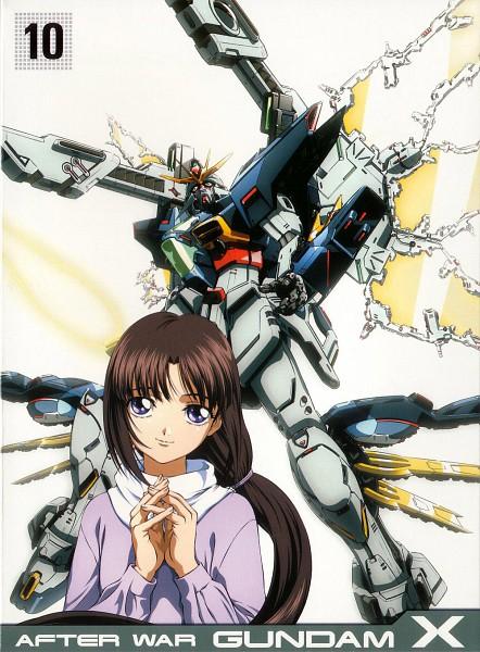 Tags: Anime, Nishimura Nobuyoshi, Sunrise (Studio), Kidou Shinseiki Gundam X, Tiffa Adill, Scan, DVD (Source), Official Art