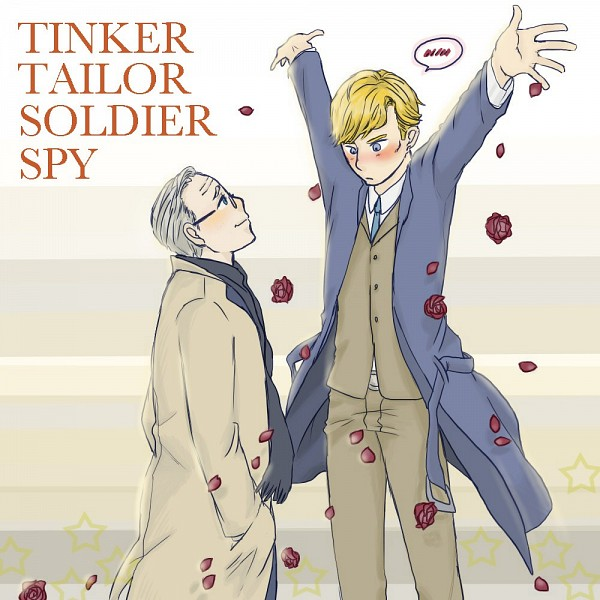 Tags: Anime, Pixiv Id 4661804, Tinker Tailor Soldier Spy, George Smiley, Peter Guillam, Pixiv