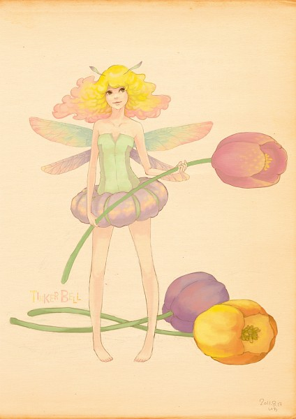Tags: Anime, Peter Pan, Tinkerbell (Peter Pan), Tulip, Mobile Wallpaper, Pixiv