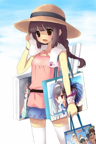 Tags: Anime, Lena (zoal), Tiv, Juke, D myo, Paper Bag, Mobile Wallpaper, Pixiv
