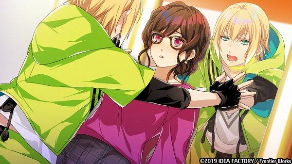 Tags: Anime, Sarachi Yomi, IDEA FACTORY, Otomate, Tlicolity Eyes, Sakakibara Kou, Touchi Aoi, Kabe-don, Official Art, CG Art